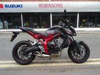 2016/16 Honda CB650FA-G, One Owner Very Low Miles and Immaculate.