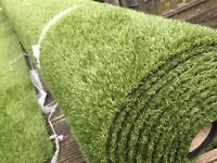 ROLL OF ARTIFICIAL GRASS (36MM) TOP QUALITY BARGAIN HALF PRICE !! ONLY £500 !!(£1000 NEW)