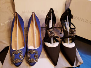 BRAND NEW - NEVER BEEN WORN - MANOLO BLAHNIKS!! TWO FOR ONE!!