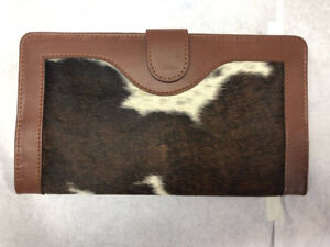 Brand New Genuine Cow-Hide Fold-over Wallet Purse Card-holder wi