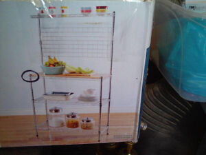 For Sale: Chrome Kitchen Pantry shelving unit, still in box