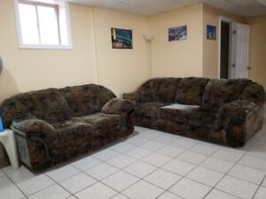 2 piece Sofa + Loveseat Couch set (7 month old) MUST GO OBO