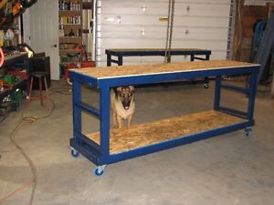 Work Bench - Tool Bench - Steel Frame on casters