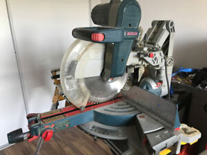 Mitter saw and work bench combo