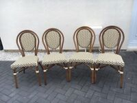 Set of 4 Conservatory/garden chairs