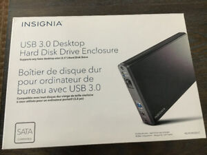 "Insignia 3.5"" SATA To USB 3.0 Hard Drive Enclosure NS-PCHD335-C"