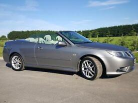 Saab 9-3 Convertible 2009 Vector 52000 miles! FSH New MOT, £500 PRICE REDUCTION!