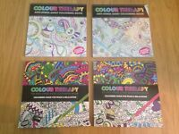 4 BRAND NEW Colouring Books & Pens