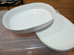 Corningware french white stone ware 1.4L and lid