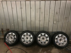"""20"""" Ford F-150 Platinum Wheels with Winter tires"""