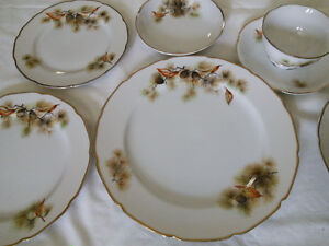 "7 Piece - 6 Person Setting of ""Pine Tree Fine Translucent China"""