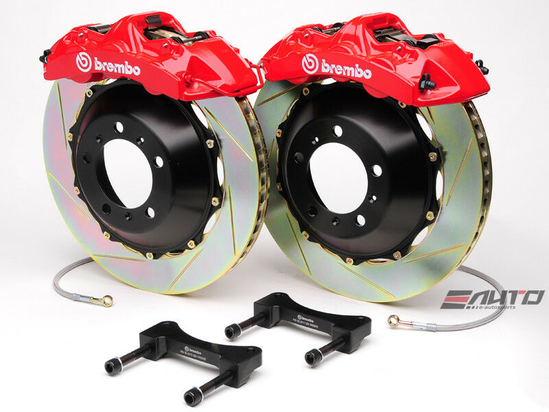 Brembo Front Gt Brake Bbk 6piston Red 355x32 2pc Slot Disc Rotor Mustang 05-13