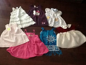 7 6 - 12 month dresses and 4 tank tops