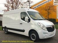2011/ 60 Vauxhall Movano 2.3 CDTi L2 [ Mobile Workshop+ S/Lift / Crane] H2 Van