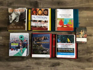 Brock University Accounting and Kinesiology Textbooks