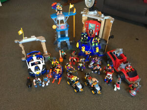 Rescue Hero figures, command centre and vehicles