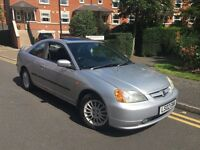 2002 HONDA CIVIC COUPE 1.7 VTEC 1 F OWNER LEATHERS CHEAP £1195