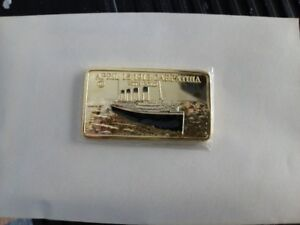 LINGOT DE COLLECTION ( GOLD PLATED ) = $7. ch
