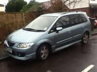 2002 Mazda premacy sport 2.0 manual petrol long mot tints DVD player may px