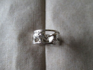 HAND CRAFTED WIDE BAND SILVER RING