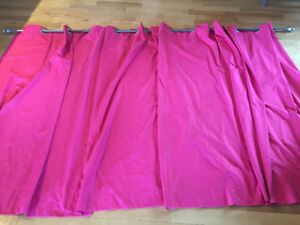 Pink Panel Curtains with Rod and Hardware
