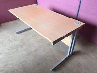Modern 1600 beech office desk delivered to Belfast
