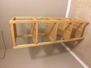 Wooden IKEA brand shelf for sale
