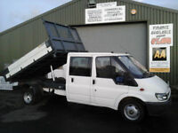 Ford Transit 2.4TDI ( 90PS ) Crewcab 3-Way Tipper Durashift EST 2 350 LWB NO VAT