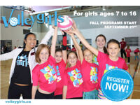 VOLLEYGIRLS Volleyball for girls ages 7 to 16