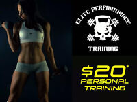 Get in shape for 2017! $20 a session personal Training!