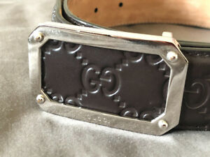 Gucci leather belt for men (authentic)