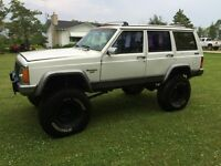 """1991 jeep Cherokee with 8"""" lift"""