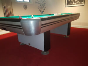 One of a kind 1970's 4x8 Competion Dufferin pool table.