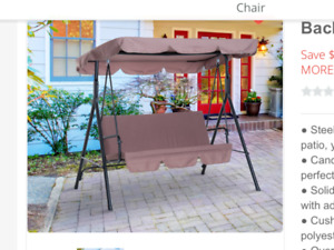 Patio Garden Swing Wanted - 3 seater