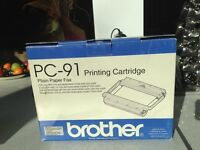 Plain paper fax PC-91 Brother  printing cartridges