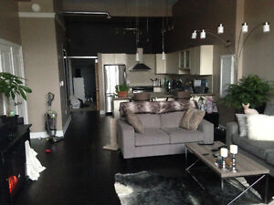 The brick Grey fabric loveseat and couch Cambridge Kitchener Area image 2