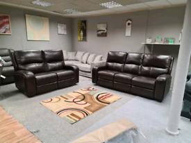 Brand new Genuine Leather 3+2 seater power recliner with headrest
