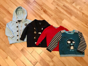 Set of 4 Boys Sweaters ( 18 month old )