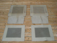 FOUR GREY CAR MATS FRONT AND BACK