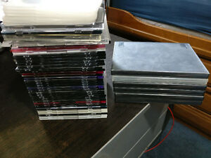 Various CD/DVD cases, slim, regular and large