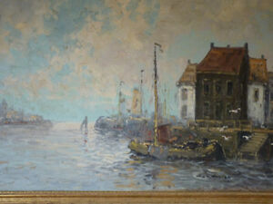 Signed Oil Painting by Dutch Master