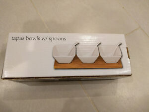 Brand New Tapas Bowls with Spoons