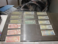 coin and bank note collection forsale