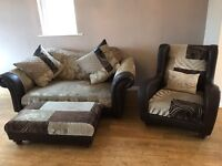 3 piece DFS sofa and foot stall