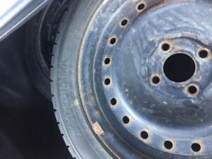 Set of four winter tires with rims