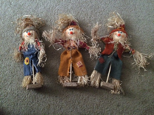Set of 3 Scarecrow Harvest Buddies for sale