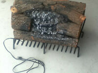 Vintage Electric Faux Fireplace & Grate