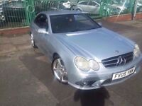 05 MERCEDES CLK220 2.2 CDI AUTO SILVER AMG SPORT PACK *PX WELCOME* £2995*