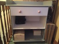Solid wood changing table ideal for up cycling or as it is