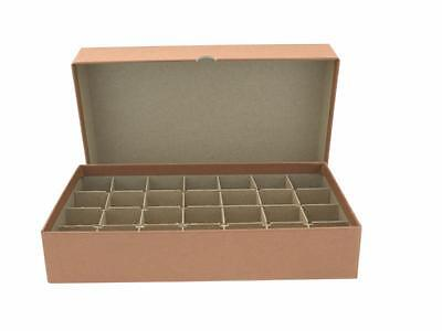 Guardhouse Coin Tube Box, Heavy Duty - Half-Dollar/Brown
